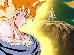 Dragon Ball Kai - Przyglądający się sobie Son Goku i Freeza